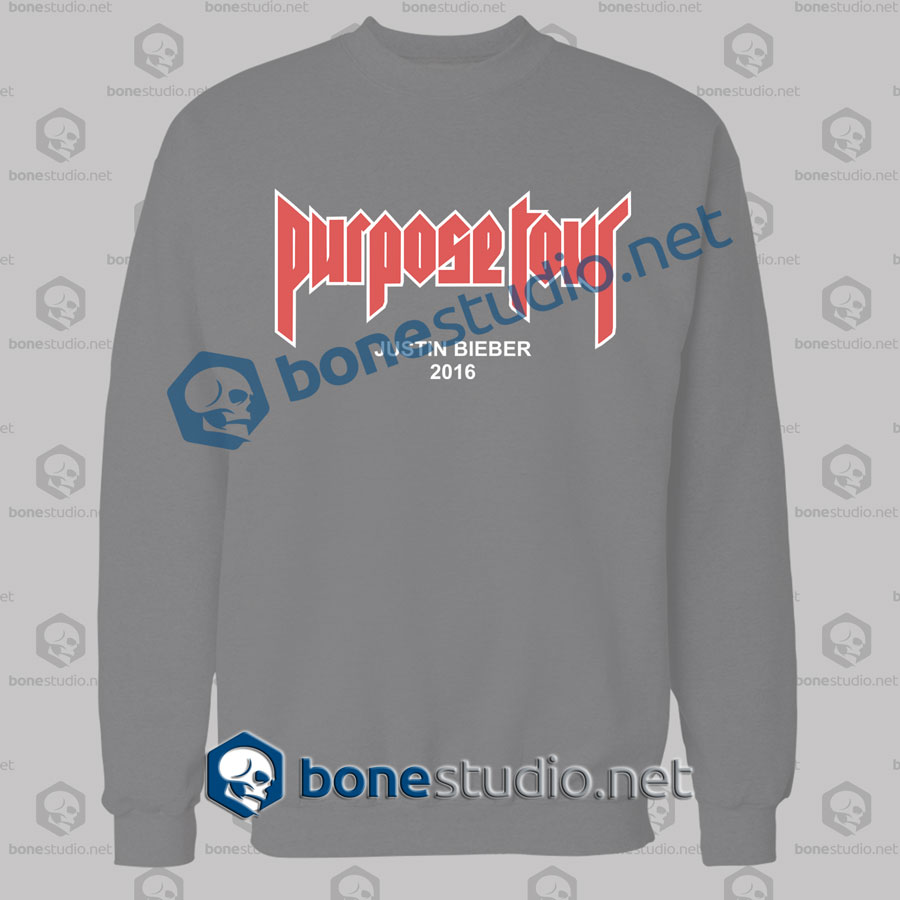 Justin Bieber Purpose Tour 2016 Sweatshirt
