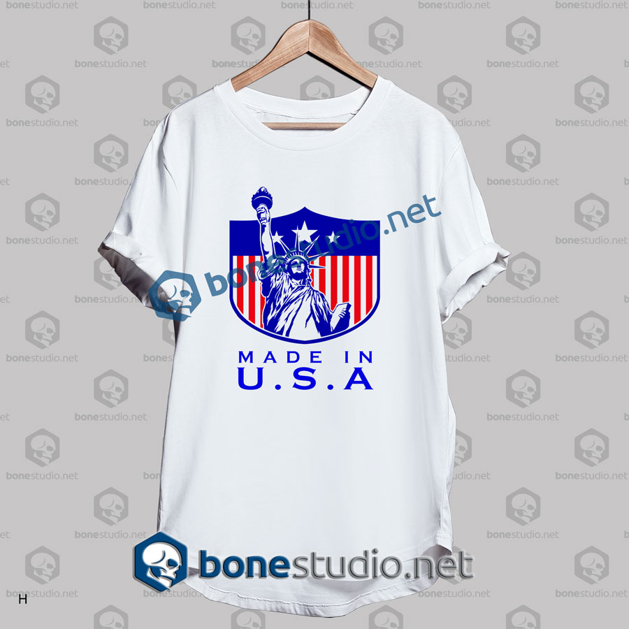 Liberty made in usa t shirt adult unisex size s 3xl for Made in t shirts