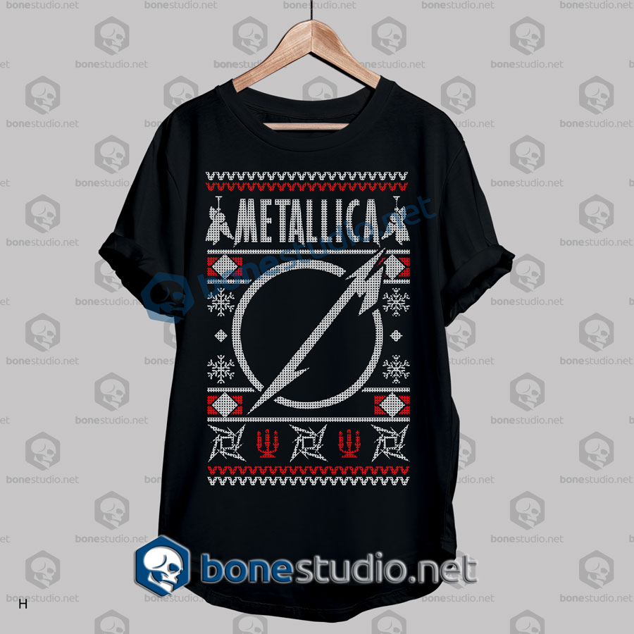metallica ugly sweater t shirt black - Metallica Christmas Sweater