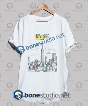 New York City Hand Painted T Shirt