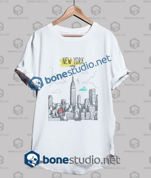 New York City Hand Painted T Shirt