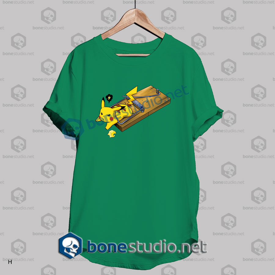 Pokemon Pikachu Mouse Trap Funny T Shirt
