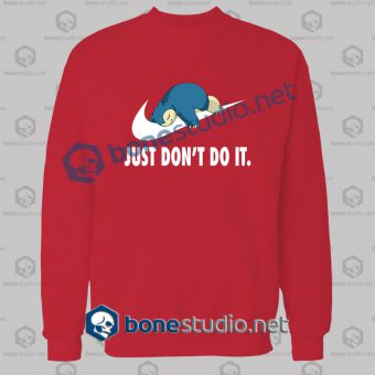 pokemon-snorlax-just-dont-do-it-funny-sweatshirt-red