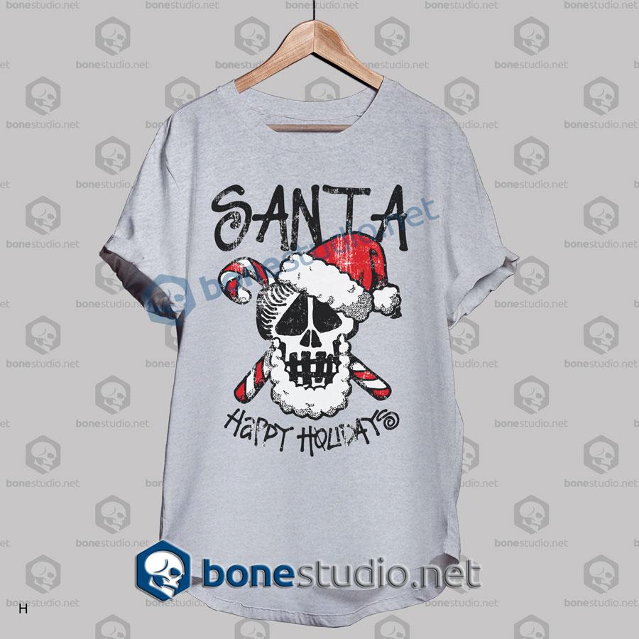 Santa Stussy Happy Holidays Funny Christmas T Shirt