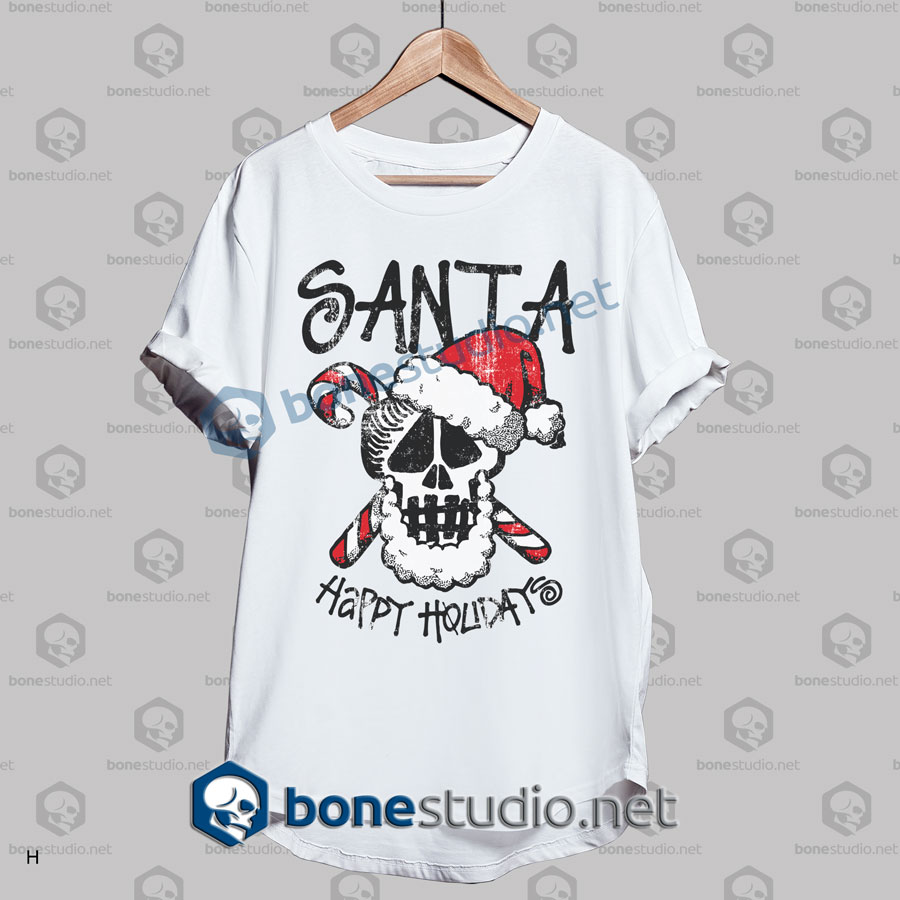 Santa Stussy Happy Holidays Funny Christmas T Shirt