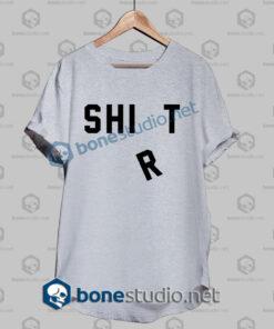 shirt shit funny t shirt sport grey