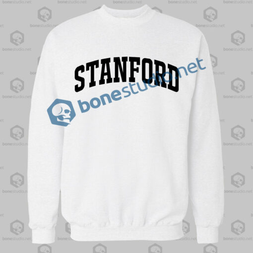 stanford athletic sweatshirt white