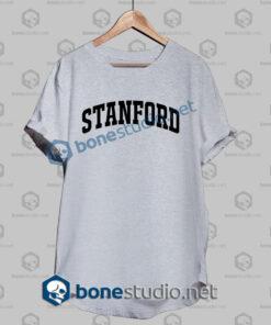 stanford athletic t shirt sport grey