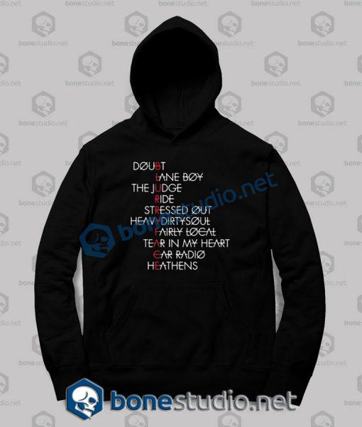 twenty one pilots typography quote hoodies