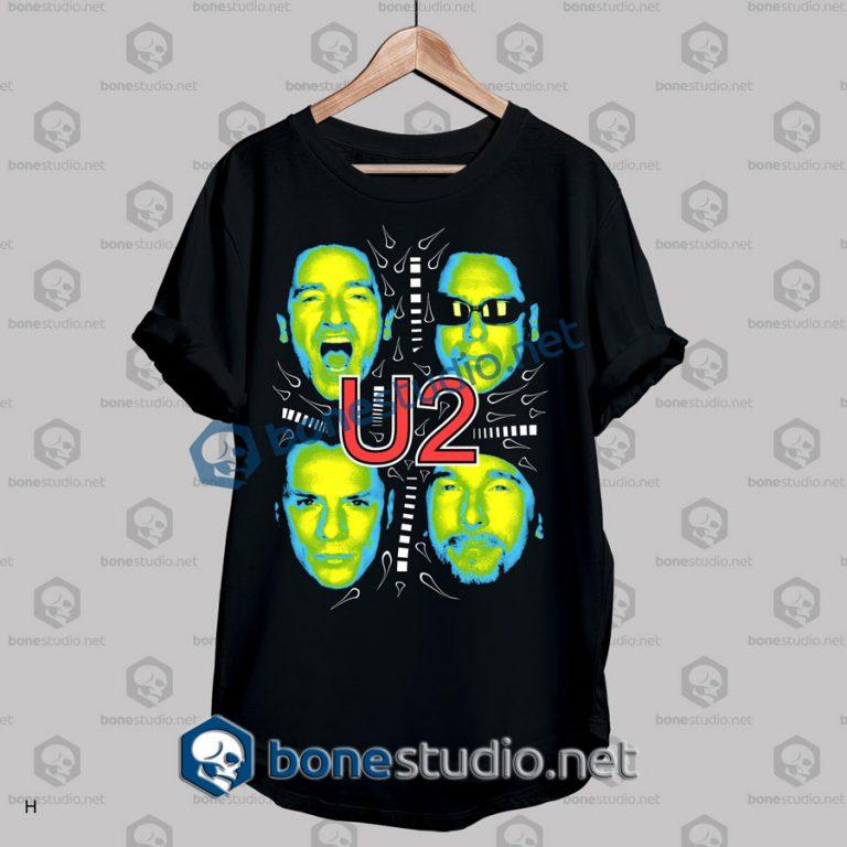 u2 cover photo band t shirt