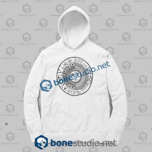we live by the sun hoodies sport white