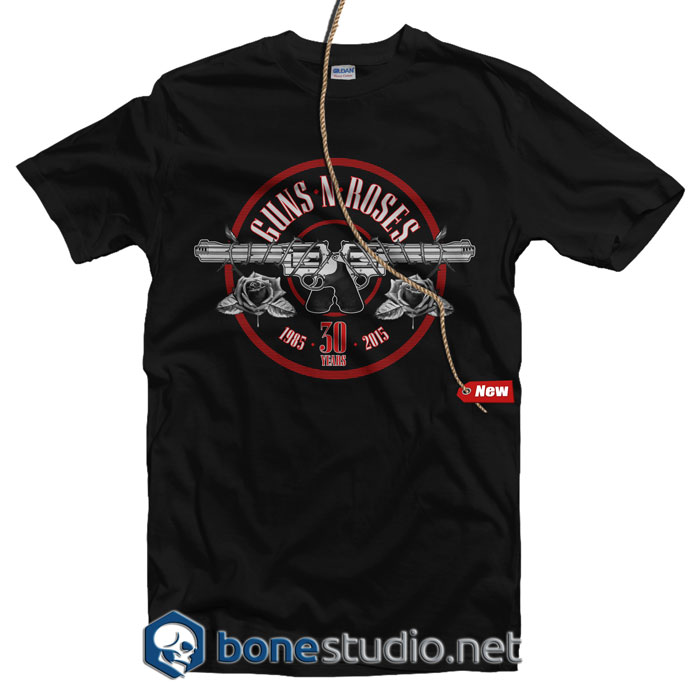 30th Anniversary Guns N Roses Band T Shirt