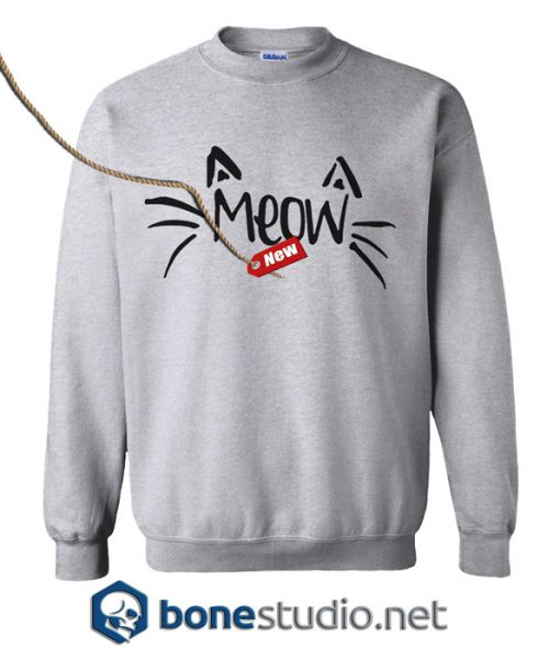 Partiss Womens Meow Sweatshirt