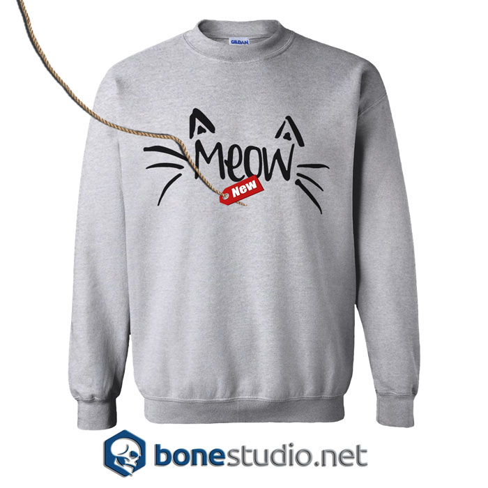 Partiss Womens Meow Sweatshirt