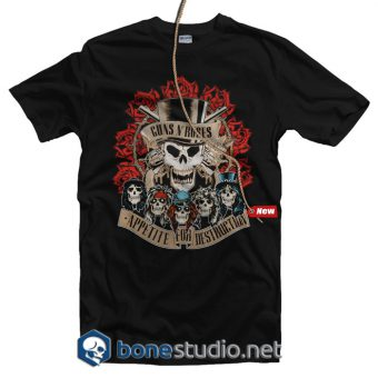 Appetite Coliseum Guns N Roses Band T Shirt