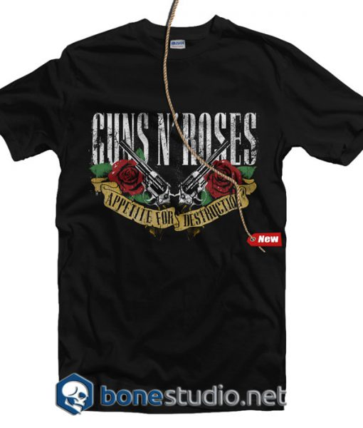 Banner Guns N Roses Band T Shirt
