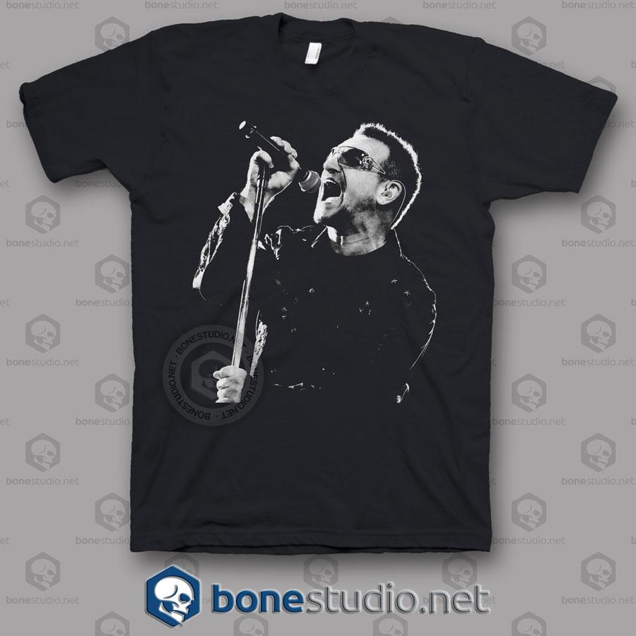 Bono U2 Band T Shirt