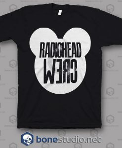 Crew Roadie Tour Radiohead Band T Shirt