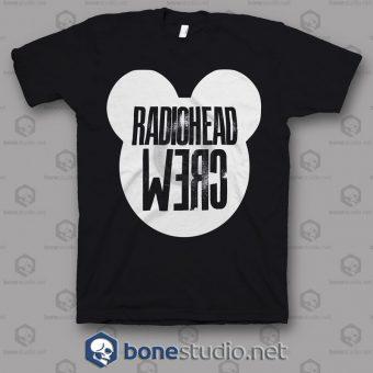 Crew Roadie Tour Radiohead Band T Shirt
