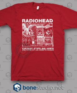 Everybody Stops And Gawps Radiohead Band T Shirt