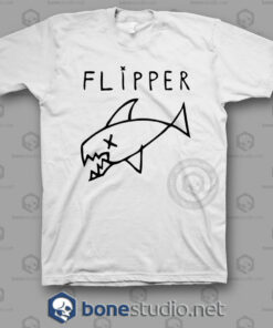 Flipper Kurt Cobain Style Nirvana Band T Shirt