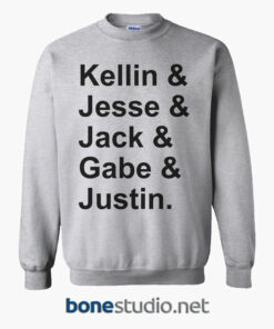 Kellin Jesse Jack Gabe Justin Sweatshirt sport grey