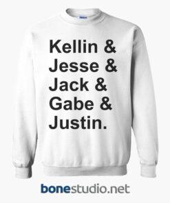 Kellin Jesse Jack Gabe Justin Sweatshirt white