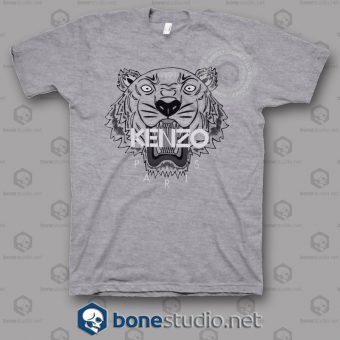 Kenzo Logo Tiger Gris T Shirt