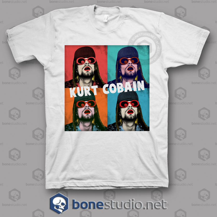 Kurt Cobain Art Nirvana Band T Shirt