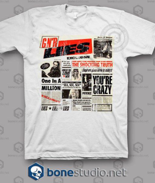 Lies Guns N Roses Band T Shirt