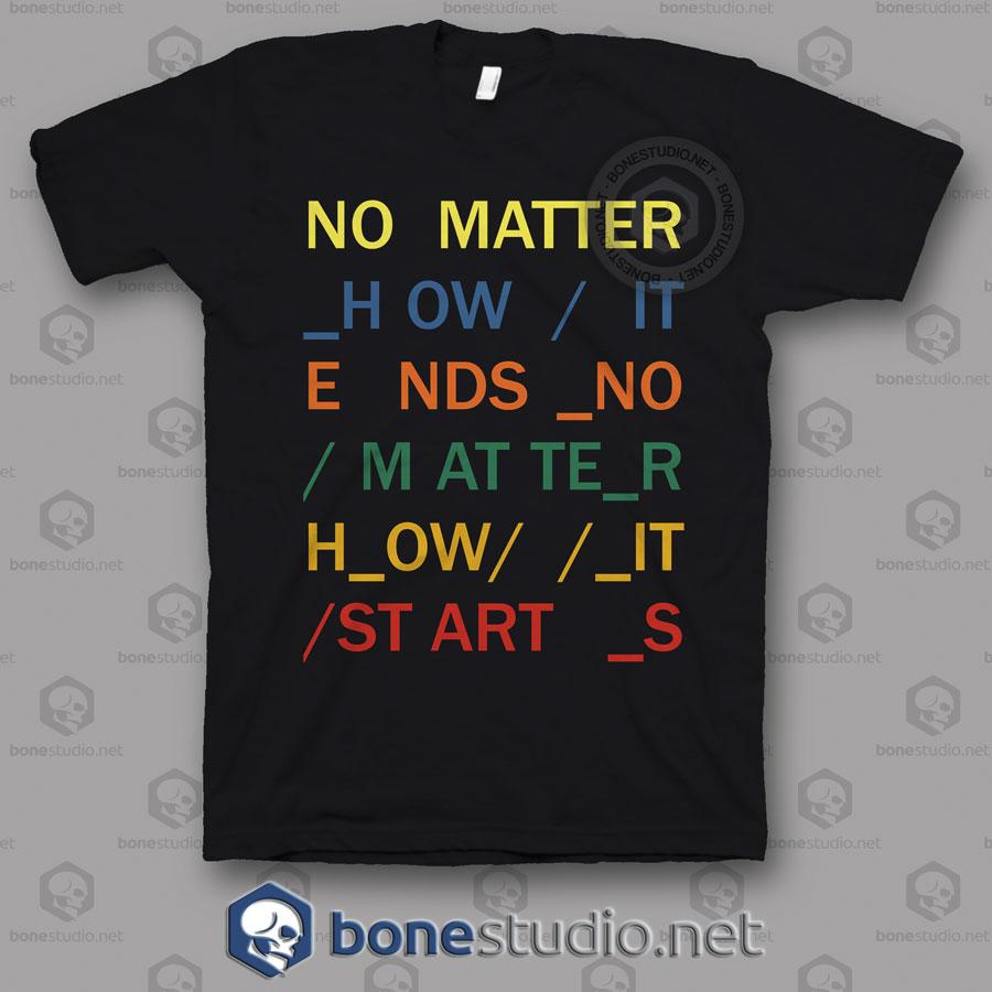 No Matter In Rainbows Radiohead Band T Shirt
