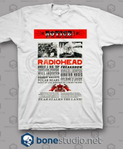 Notice Radiohead Band T Shirt