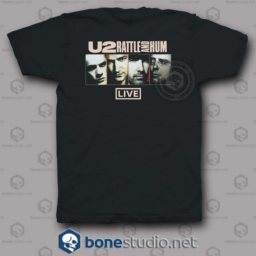 Rattle And Hum Live U2 Band T Shirt