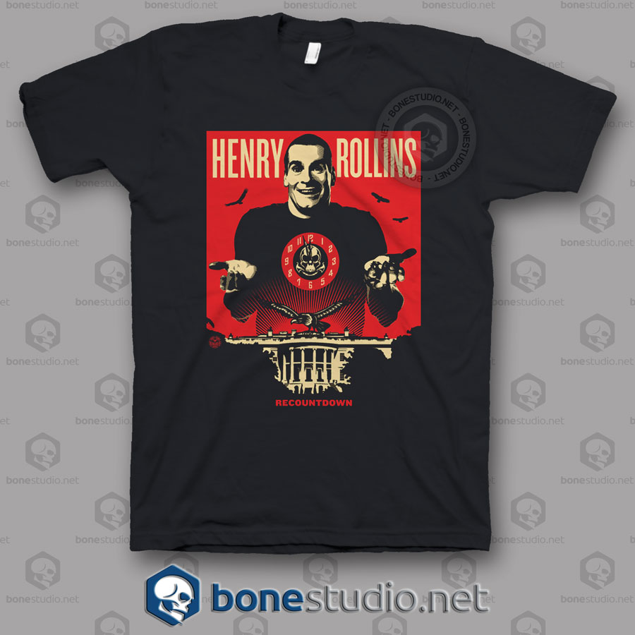 Recountdown Henry Rollins Band T Shirt