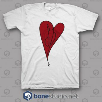 Red Heart Smashing Pumpkins Band T Shirt