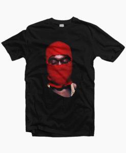 Red Ski Mask Yeezus Tour T Shirt
