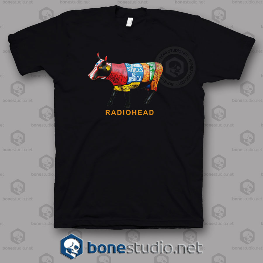 Restructured Burger Radiohead Band T Shirt