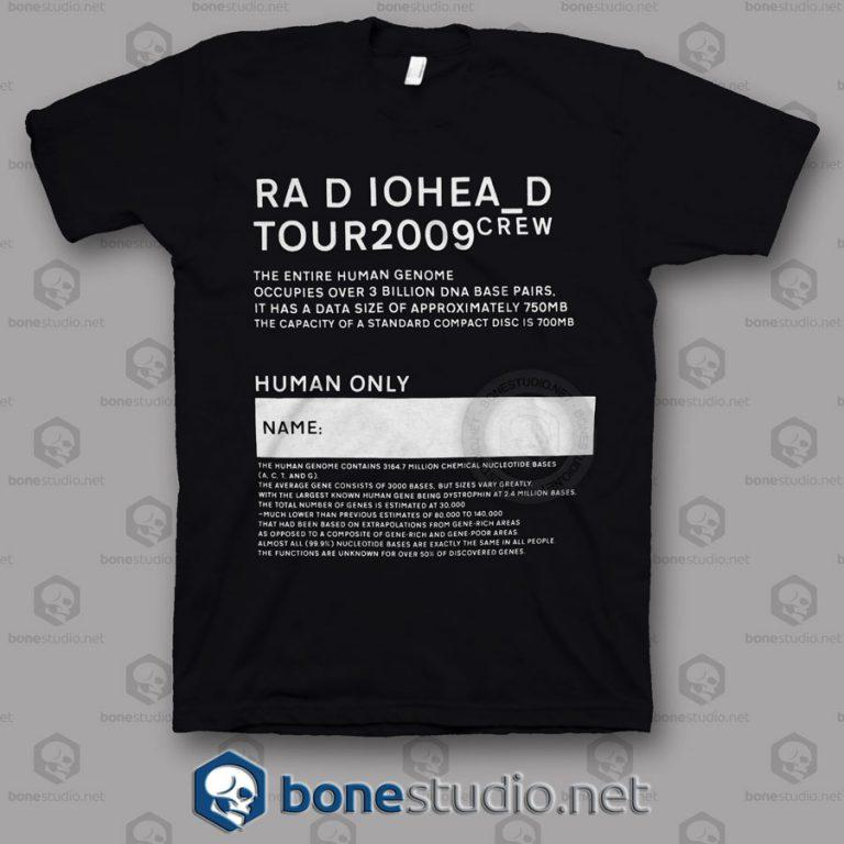 Tour 2009 Radiohead Band T Shirt