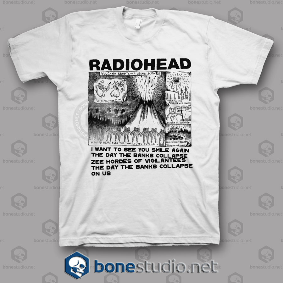 Volcano Erupts Radiohead Band T Shirt