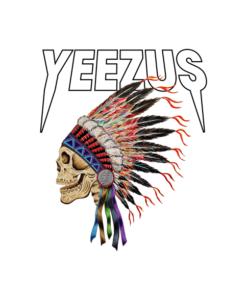 Yeezus Kanye West Indian Skeleton Yeezus Tour T Shirt
