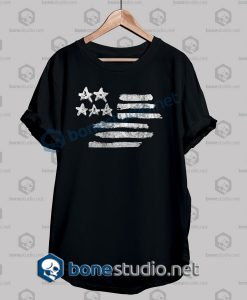 American Flag Stencil Graphic T Shirt