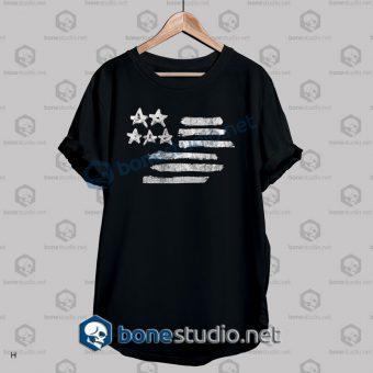 American Flag Stencil Graphic T Shirt