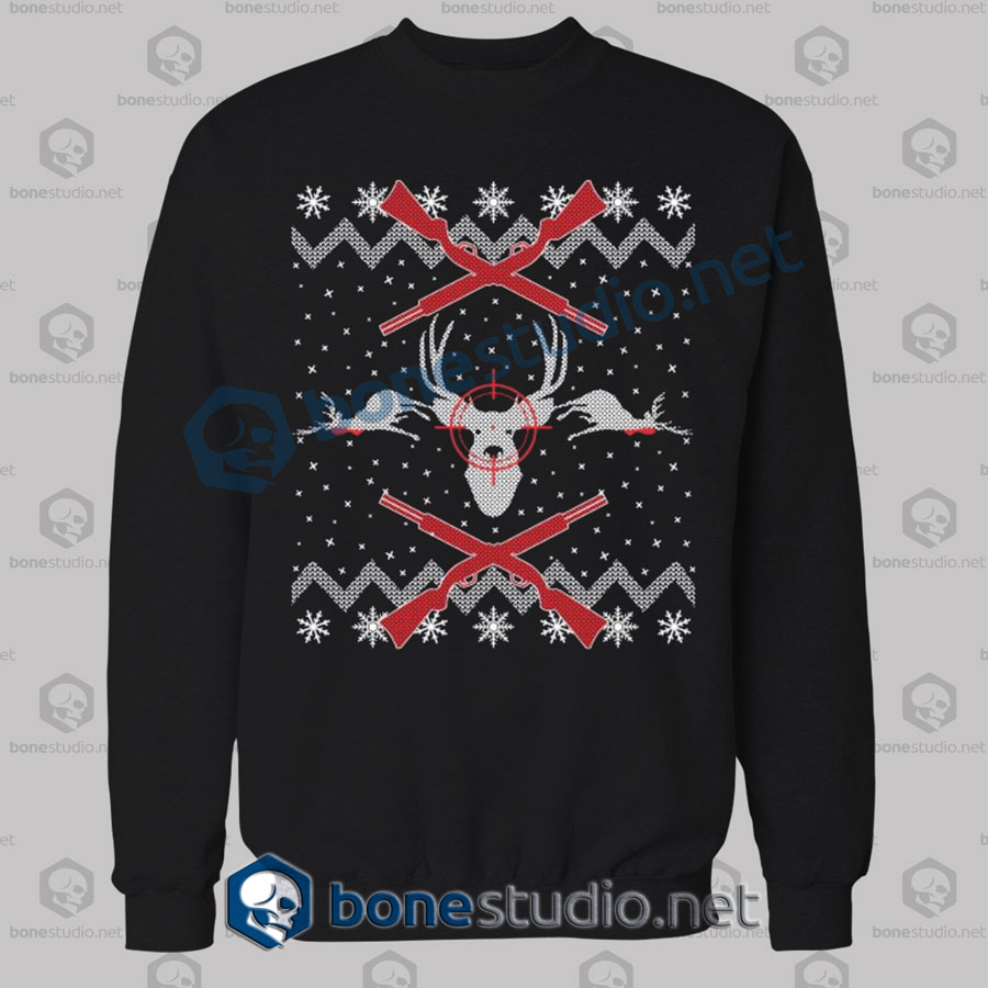 Deer Hunter Christmas Sweatshirt
