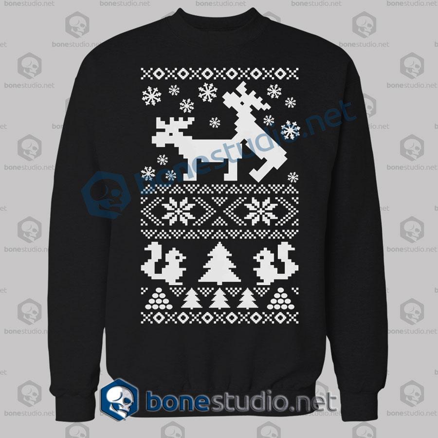 Deer Naughty Ugly Christmas Sweatshirt