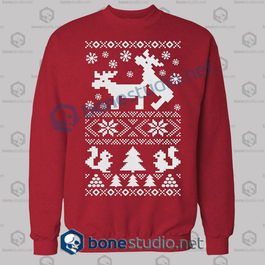 Deer Naughty Ugly Christmas Sweatshirt