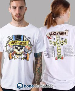Distressed 1989 Tour Guns N Roses Band T Shirt