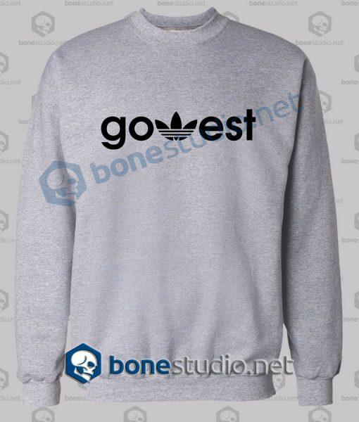 Go West Adidas Funny Sweatshirt