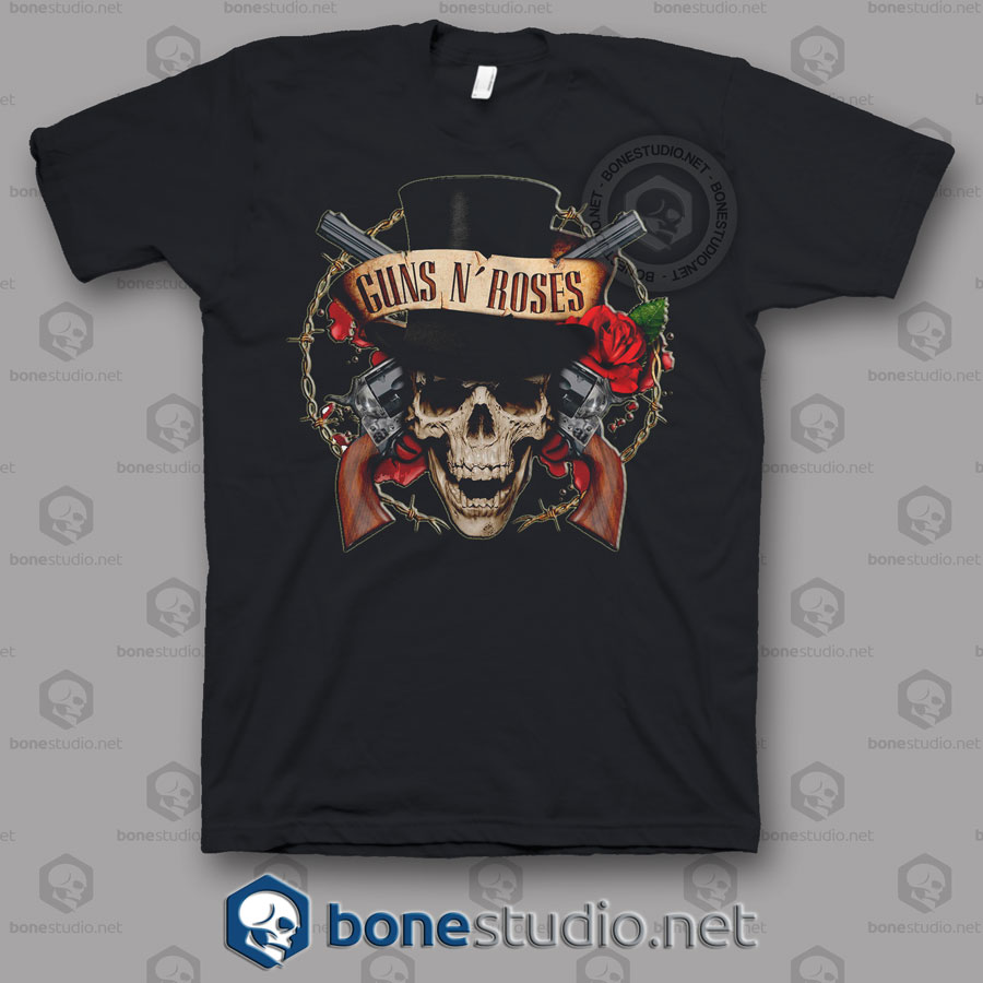 Live Guns N Roses Band T Shirt
