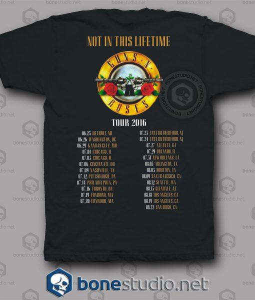 North America Tour 2016 Guns N Roses Band T Shirt
