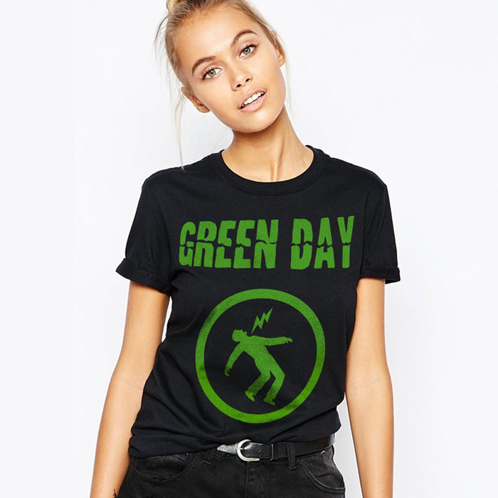Warning Green Day Band T Shirt